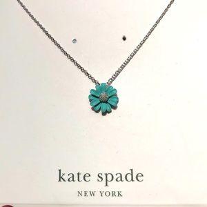 Kate Spade Blue Daisy Necklace